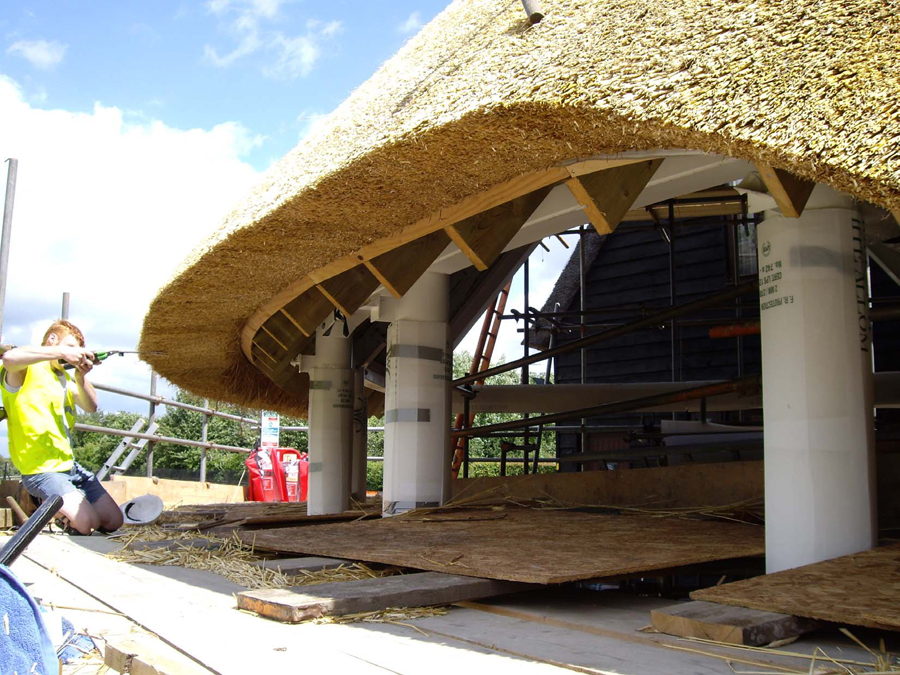 Pool House thatching 05